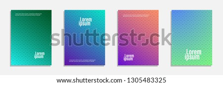 Colorful and modern cover design. Set of geometric pattern background design #1305483325