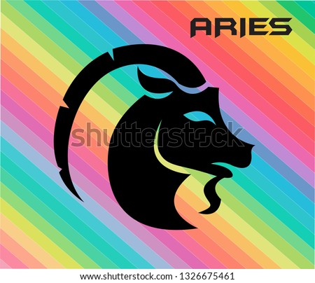 colorful ariel horoscope vector