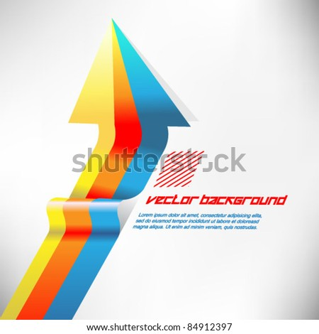 colorful arrow ribbon vector