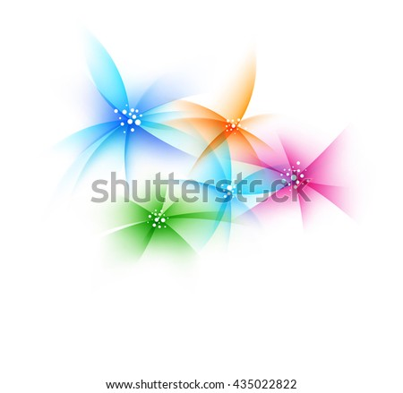 colorful artistic flowers