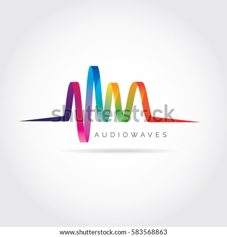 Colorful Audio Waves Logo Symbol