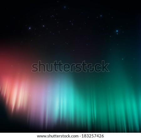 colorful aurora background  eps