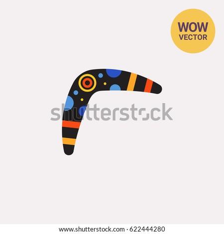 Colorful Australian boomerang icon