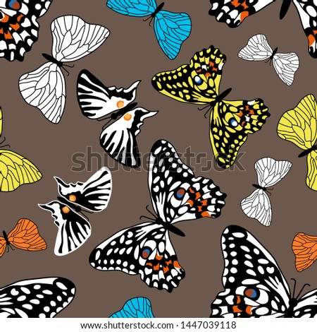 colorful autumn butterflies