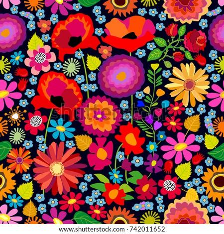 colorful autumn carpet