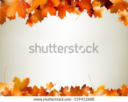 colorful autumn leaves falling
