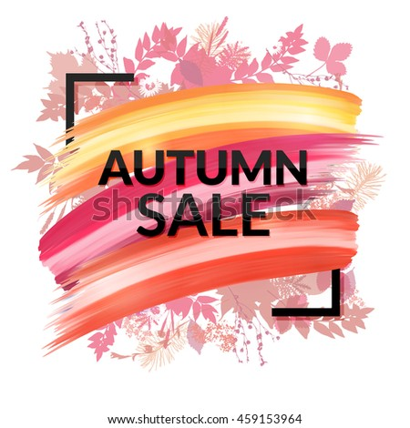 colorful autumn sale banner...