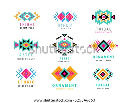 colorful  aztec style...