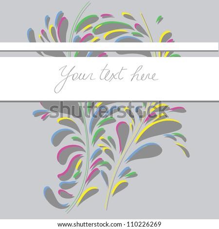 Colorful backdrops postcard. Vector