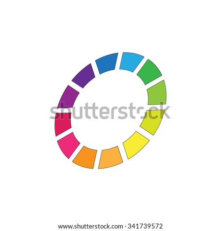 Colorful Background. Company Logo Design Vector