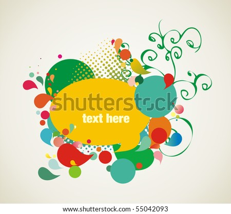 colorful background elements