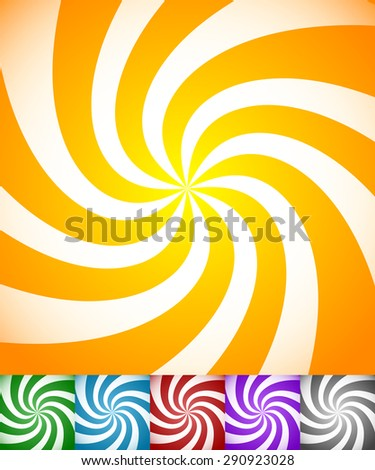 stock-vector-colorful-background-set-with-swirling-rotating-twirling-stripes-lines-bright-orange-green