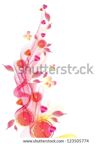 Colorful background with abstract pink wave for Valentine design, vector