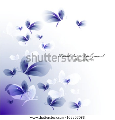 Colorful background with butterfly. Vector - stock vector