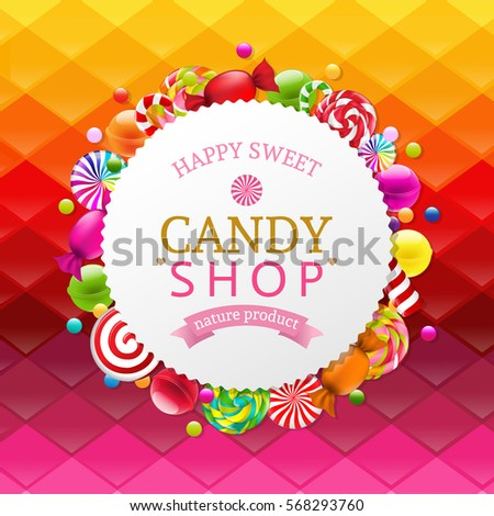 colorful background with candy...