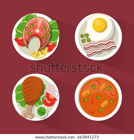 colorful background with dish