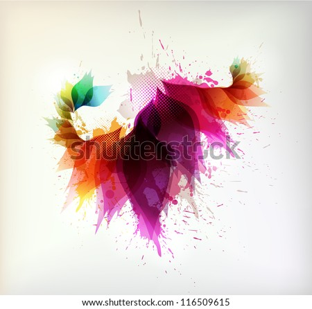 colorful background with floral