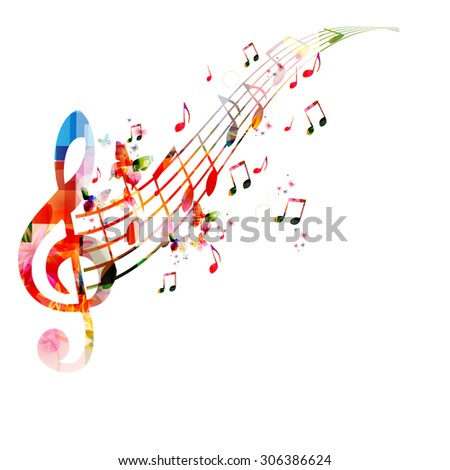 colorful background with music