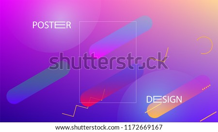 Colorful Background with Simple Fluid Shapes. Holographic Colour Gradient. Trendy Abstract Background. Vector Illustration. - Shutterstock ID 1172669167