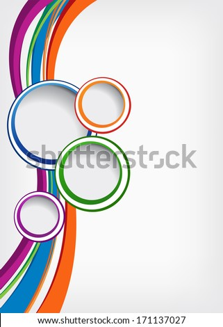Colorful background with wave brochure design or flyer