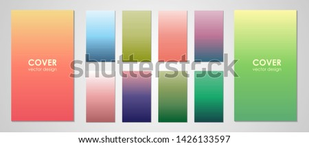 Colorful backgrounds in trendy colors. Soft color abstract gradients. Modern screen vector design for mobile app. Vector illustration.