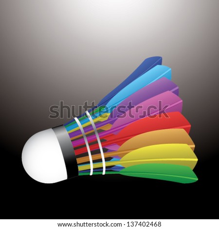 Colorful badminton ball