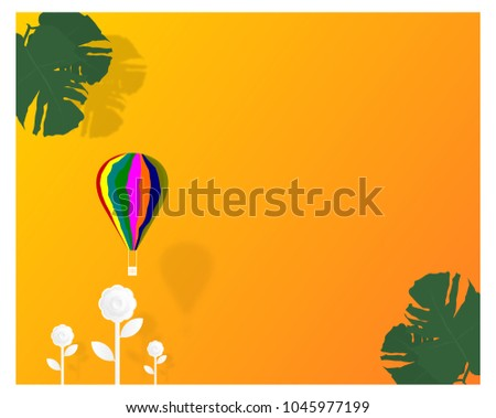 colorful balloon with sun