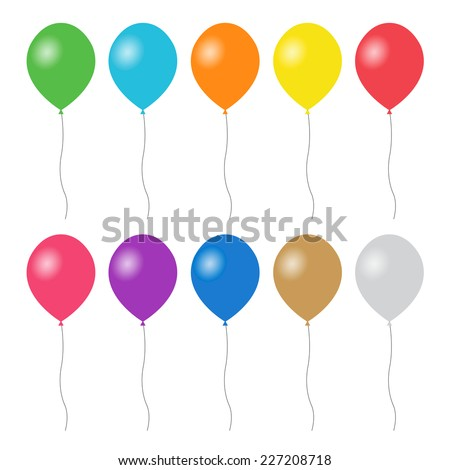 colorful balloons set   vector