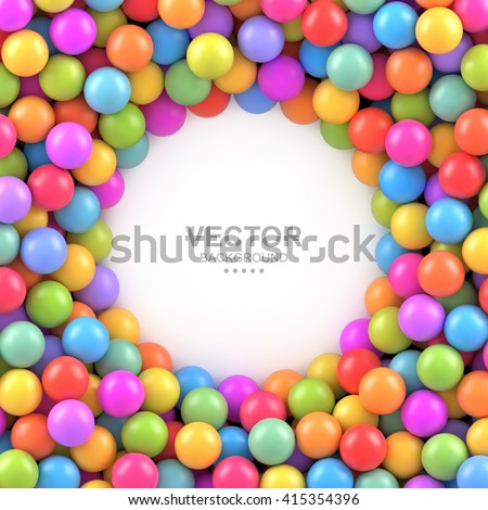 colorful balls background with