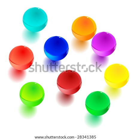 Colorful balls. Icons. Vector Illustration