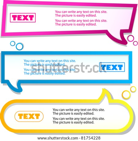 Colorful banner for text