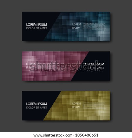 Colorful Banner template. Abstract design vector for website. #1050488651