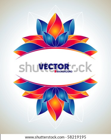 Colorful banner with flowers