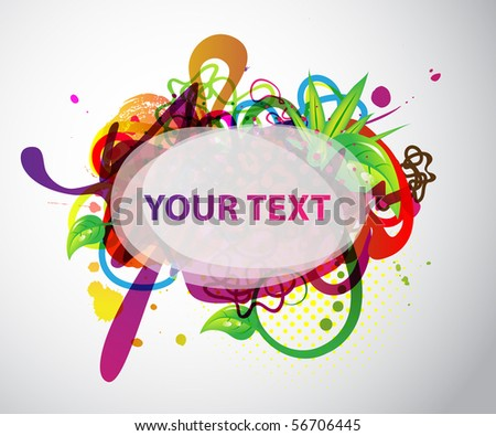colorful banner with sample text