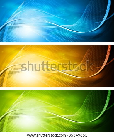 Colorful banners. Eps 10 vector design - stock vector