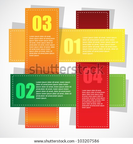 colorful banners with choice options - stock vector
