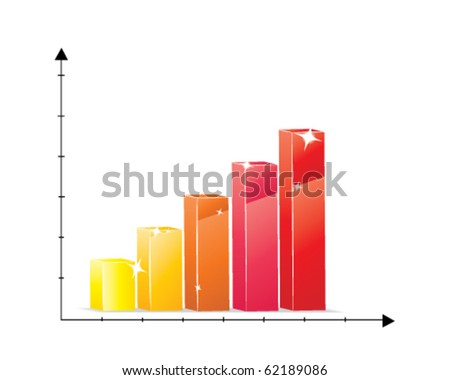 Colorful  Bar graph for business industry