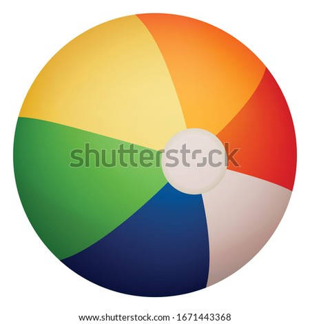 colorful beach ball isolated in