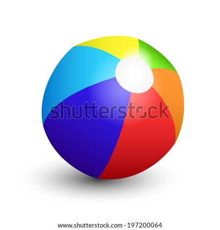 colorful beach ball on white