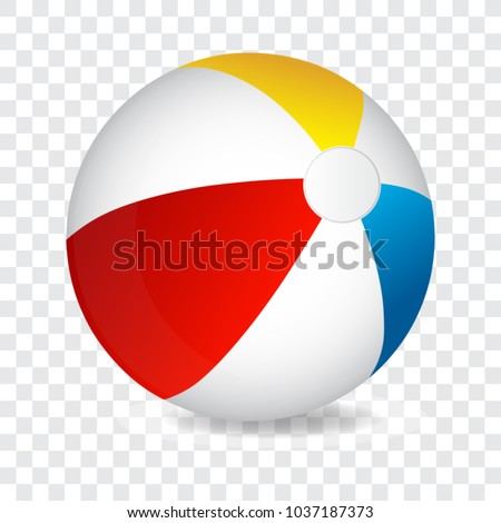 Colorful beach ball, vector illustration.
