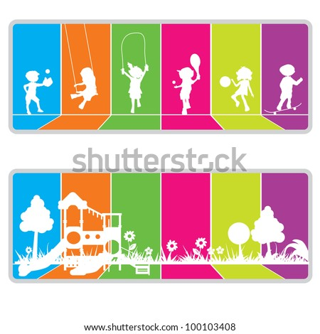 colorful billboard background for kids or fun theme