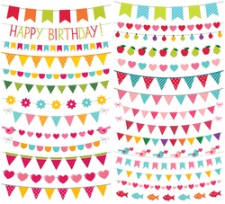 Colorful birthday and party vector decoration