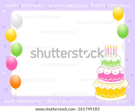 Happy Birthday Card Design With Text Space And Cake Download Free