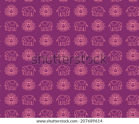 Pink Background With Henna Paisley Background Download Free Vector