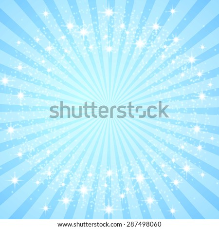 Colorful blue burst background. Vector illustration