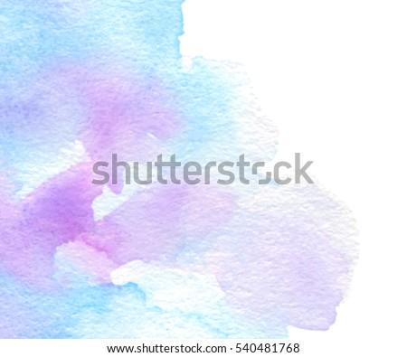 colorful blue violet watercolor