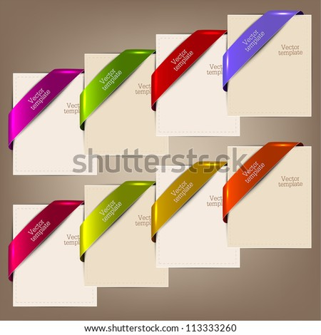 Colorful bookmarks and notes for text