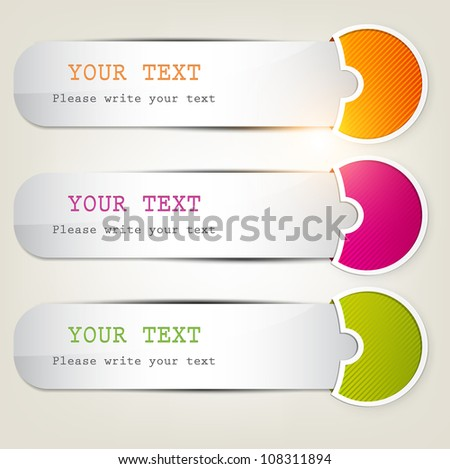 Colorful bookmarks for text