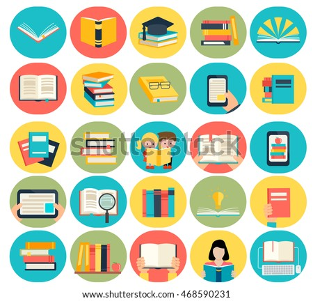 colorful book reading icons download free vector art stock graphics images - Books About Colors