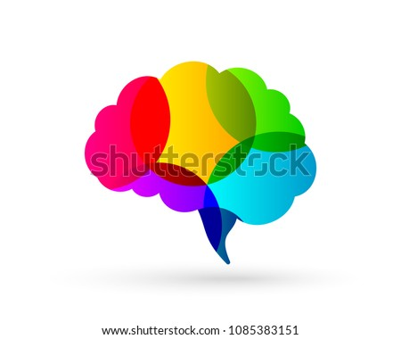 Colorful brain concept in abstract design